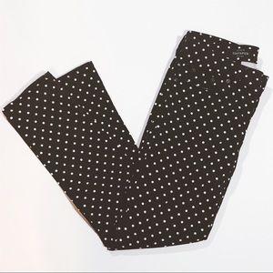• J. Crew Polka Dot Toothpick Pants Size 27 •